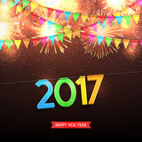 Happy New Year, 2017 Royalty Free Stock Images