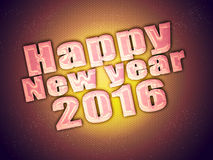 Happy new year 2016 best wishes Stock Photography