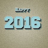 Happy new year 2016 best wishes. Royalty Free Stock Photo