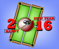 Happy new year and billiard Royalty Free Stock Images