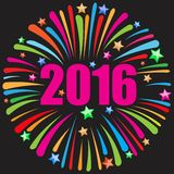 Happy new year 2016 black Stock Images