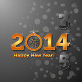 2014 Happy New Year. With black background Stock Image