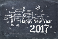 Happy New Year 2017 greeting card Stock Images