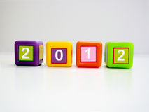 Happy new year blocks Royalty Free Stock Photos