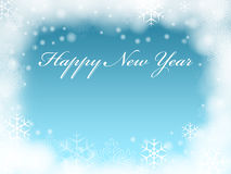 Happy New Year in blue Stock Photography