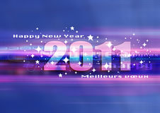 Happy new year blue. Graphic univers to whish an happy new year 2011 Royalty Free Stock Photos