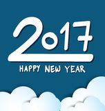 Happy New Year 2017, blue background. Happy New Year 2017.blue background Stock Image