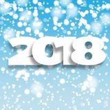 Happy New Year 2018 blue background. Royalty Free Stock Images