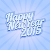 Happy New Year 2015 on blue background Stock Photo