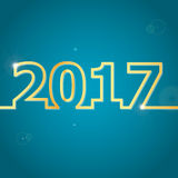 2017 Happy New Year on blue background. Stock vector royalty free illustration