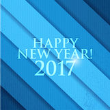 2017 Happy New Year. Blue background. 2017 Happy New Year. Blue texture background Stock Photos