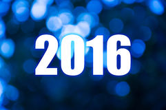 Happy New Year blue blur light Royalty Free Stock Photo