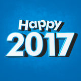 Happy New Year 2017 blue Stock Photo