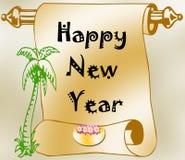 Happy New Year. On blue glitter background royalty free illustration