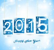 Happy New Year 2015. Blue Greeting Card Royalty Free Stock Photography