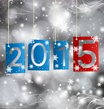 Happy New Year 2015. Blue Greeting Card Stock Images
