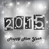 Happy New Year 2015. Blue Greeting Card Stock Photos