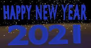Happy New Year 2021 royalty free stock photo