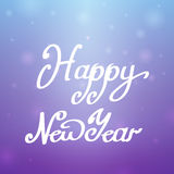 Happy New Year blue-purple background Royalty Free Stock Images