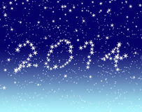Happy new year 2014 blue sky Stock Images