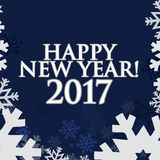 2017 Happy New Year. Blue snowflakes background. 2017 Happy New Year. Blue snowflakes texture background Stock Images