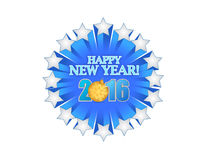 Happy new year 2016 blue star Royalty Free Stock Image