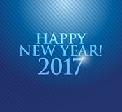 2017 Happy New Year. Blue texture. Background stock illustration