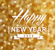 Happy new year 2016 blur lights background Stock Photography