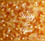 Happy new year blur lights vintage design Royalty Free Stock Image