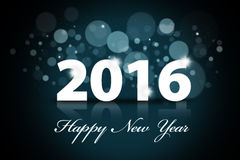 Happy new year 2016 with bokeh background Stock Photos