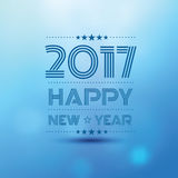 Happy new year 2017. In bokeh blur pattern background ,vector illustration Royalty Free Stock Image