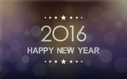 Happy new year 2016 in bokeh and lens flare pattern on dark night background Stock Photo