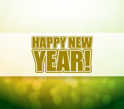 Happy New Year bokeh light sign Stock Photos