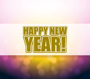 Happy New Year bokeh light sign Stock Photography