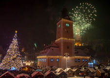 Happy New Year Brasov ! Stock Images