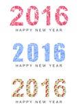 Happy new year-2016 Stock Photography