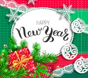 Happy New Year bright design stock image