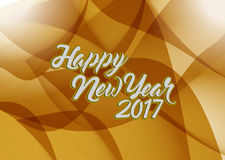 Happy new year 2017 brown abstract Royalty Free Stock Photo