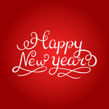 Happy new year brush hand lettering, isolated on white background. Vector illustration. Can be used for holidays festive Royalty Free Stock Image