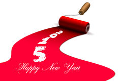 Happy new year brushes with paint Royalty Free Stock Photo
