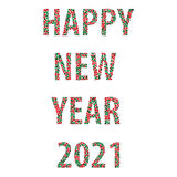 Happy new year bubbles 2021 Royalty Free Stock Photo