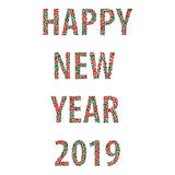 Happy new year bubbles 2019 Royalty Free Stock Photography