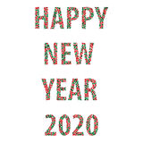 Happy new year bubbles 2020 Stock Image