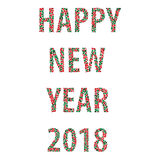 Happy new year bubbles 2018 Stock Images
