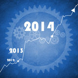 Happy New Year 2014 business background Stock Photo