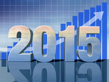 Happy New Year. Business predictions for new year Royalty Free Stock Images