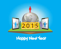 Happy new year with business successful Royalty Free Stock Images