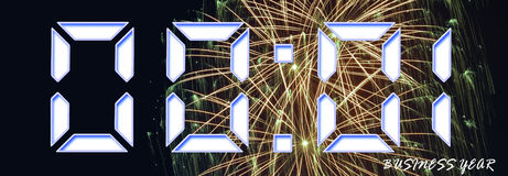 Happy new year for a business year Royalty Free Stock Image