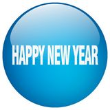 Happy new year button. Happy new year round button isolated on white background. happy new year royalty free illustration