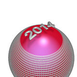 Happy New Year!. 2014,button,icon,postcard,on a white background Royalty Free Stock Images